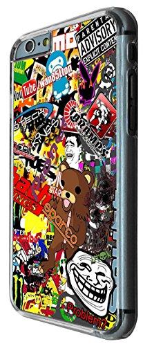 Cool Fun Cartoon StickerBomb Sticker Bomb 235 Design iphone 6 4.7'' Fashion Trend Cover Coque arriere Coque Case - Plastique et métal