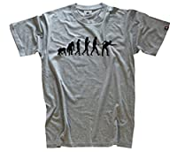 Snooker Billard Pool Kö Billardspieler Evolution T-Shirt Grau L