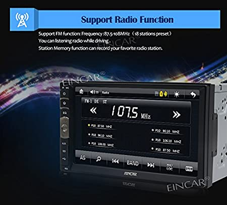 Amazon.com: EinCar 7 inch Double Din Car Stereo MP5 Player with Capacitive Touch Screen Video Audio 1080P Multimedia Movie FM Radio Receiver in Dash ...