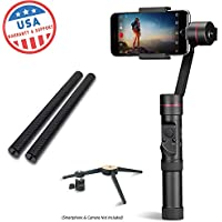 EVO SP-PRO Gen2 3 Axis iPhone Gimbal Stabilizer works with iOS & Android Smartphones, Advanced EVO Camera APP | 1 Year USA Warranty | Bundle Includes: EVO SP-Pro + Tripod Stand+Carbon Fiber Poles