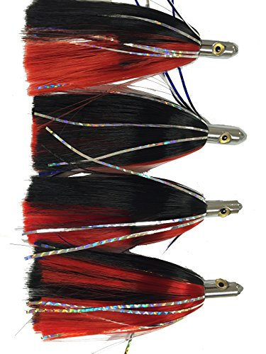 Combo 4 pack Ilander style red and black saltwater fishing lures