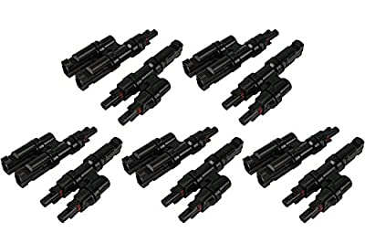 VIKOCELL 30A Solar Cable MC4 Y Branch Connectors for Home Solar Panel System
