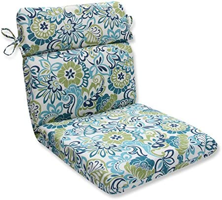 Pillow Perfect Outdoor Indoor Zoe Mallard Rounded Corners Chair Cushion