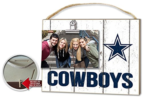 KH Sports Dallas Cowboys Weathered Clip-It Photo Frame Dallas Cowboys Picture Frame