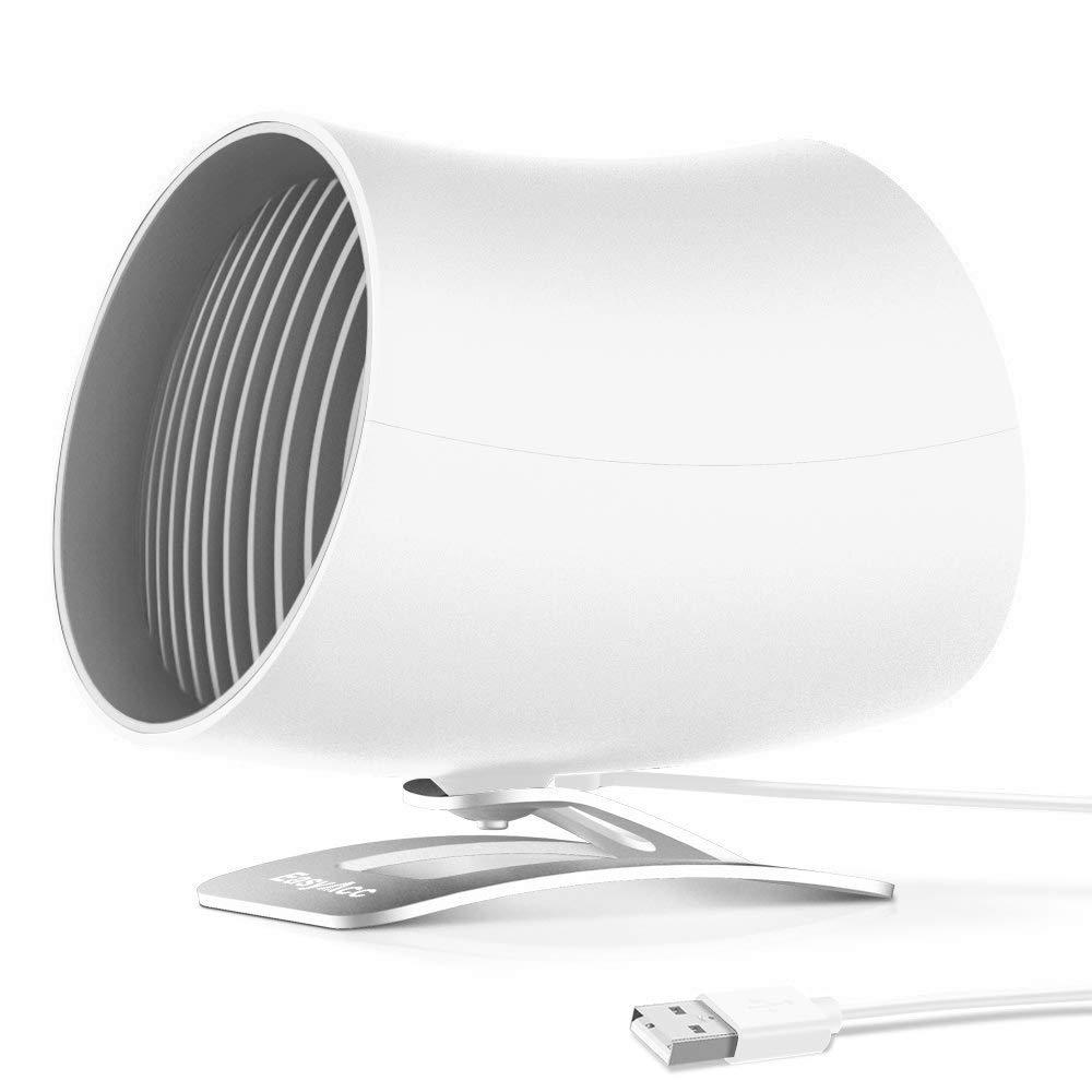 Blanc EasyAcc Ventilateur USB Ultra Silencieux Mini Ventilateur de Table Portatif avec Technologie du Vent Turbo 2 Vitesse R/églable pour la Maison Le Bureau ou Le Voyage Mini USB Ventilateur