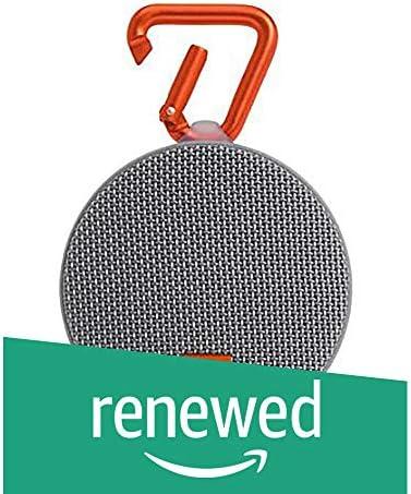 JBL Clip 2 Waterproof Portable Bluetooth Speaker – Grey Certified Refurbished