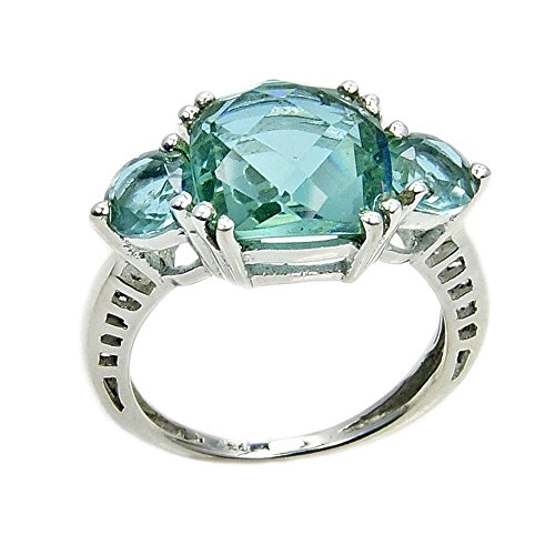 Lab Created Alexandrite Ring - Incredible Sterling Silver Lab Created Color Change Alexandrite Ring Size 7.75