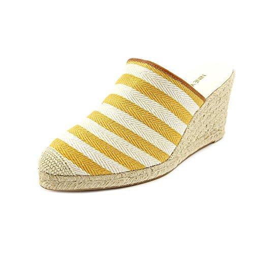Nine West Women's Mandran Espadrille Sandal,Yellow Natural/Cognac,9.5 M US
