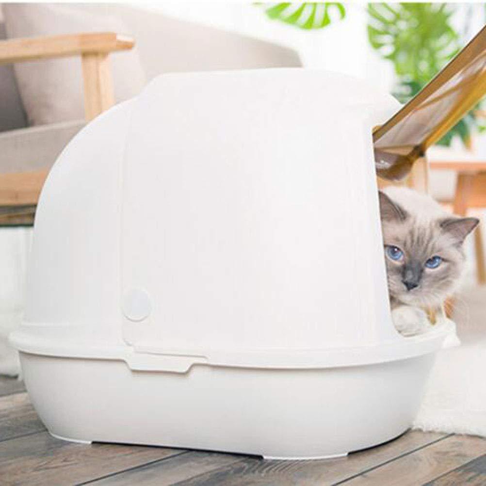 Wybxfat Arenero para Gatos,Borde Cubierto,fácil Limpiar Gato Aseo Desodorante Filtro Cajas De Arena Bandeja Cerrado Grande: Amazon.es: Productos para ...