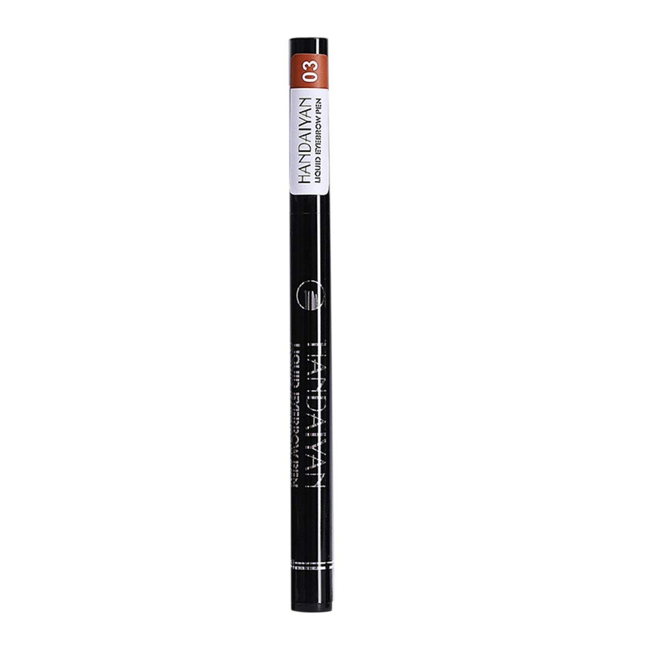 Liobaba Portable 4 Way Tip Liquid Pen Waterproof Eyebrow Pen Non-Fade Long Lasting Eyebrown Makeup Pen Beauty Cosmetic Tool