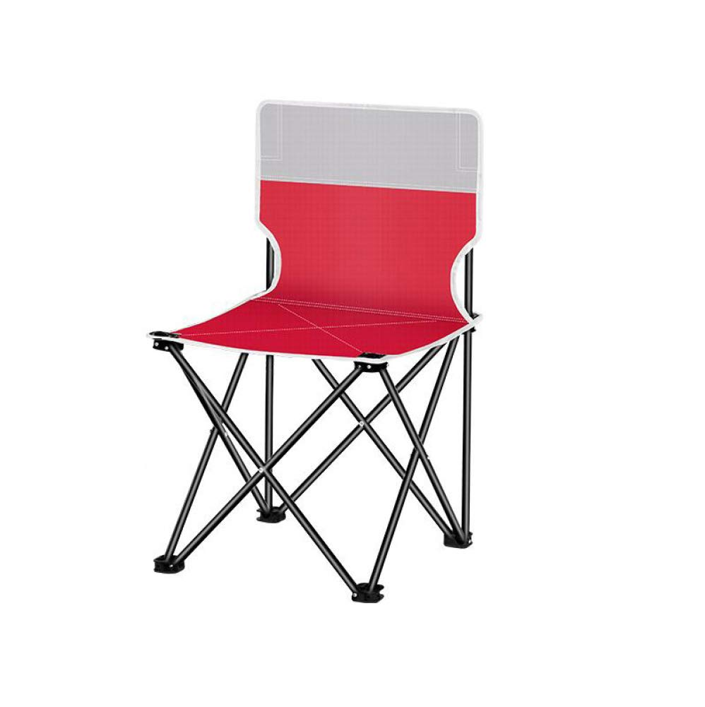 Red Small AOHMG Portable Folding Camping Chairs, Compact Ultralight with Carry Bag Chair Backpack Chair, Beach Chair for Travel Picnic Fishing Festival Hiking Backpacking