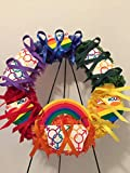 COLLEGE PRIDE 2 - SPIRIT - LGBTQ - STUDENT ORGANIZATIONS - UNIVERSITY DIVERSITY GROUPS - GAY PRIDE - DORM - COLLECTOR WREATH - RAINBOW CARNATIONS - RAINBOW FLAG -BE PROUD
