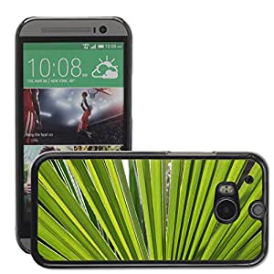 Super Stellar Slim PC Hard Case Cover Skin Armor Shell Protection // M00050988 backlit leaves aero macro // HTC ONE M8