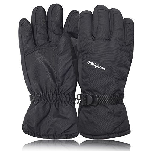 Ski Gloves Snow Winter Warm Gloves Outdoor Waterproof Windproof Thinsulate Thermal for Skiing, Snowboarding, Shredding, Shoveling & Snowballs Snowboard Gloves by O'Brighton by O'Brighton