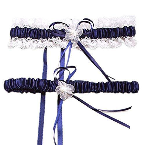HardNok Throw Away and Keep One Wedding Garter Set, Royal Blue/White, 2 Per Pack