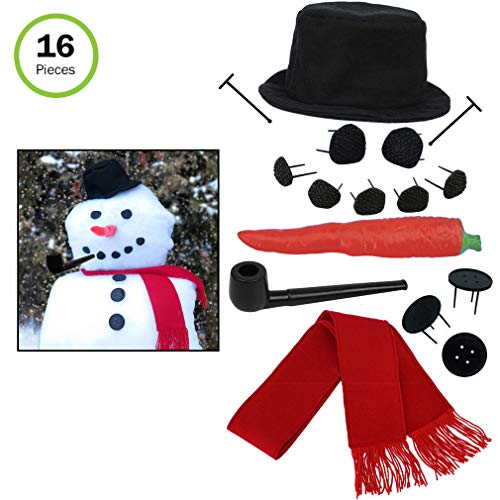 (Evelots Perfect Snowman Decorating Kit-16 Pieces-Entire Family Fun-Sturdy Prongs)