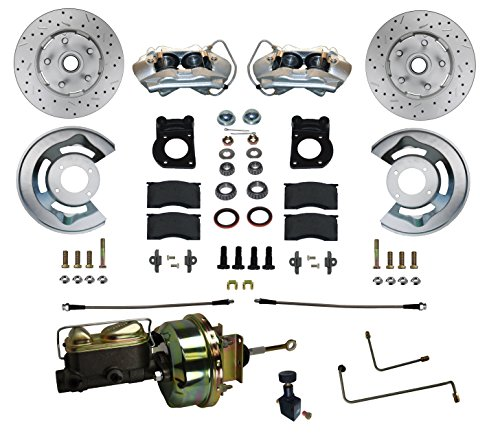 "GPS Automotive FC0001-H405AX - Power Conversion Kit with 7"" Zinc Booster and MaxGrip Cross Drilled Rotors - Automatic Transmission"
