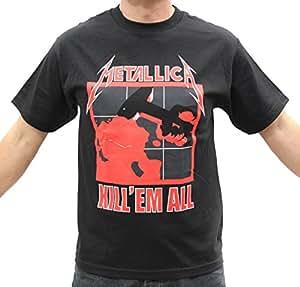 Metallica kill 39 em all thrash metal band t for Xxl band t shirts