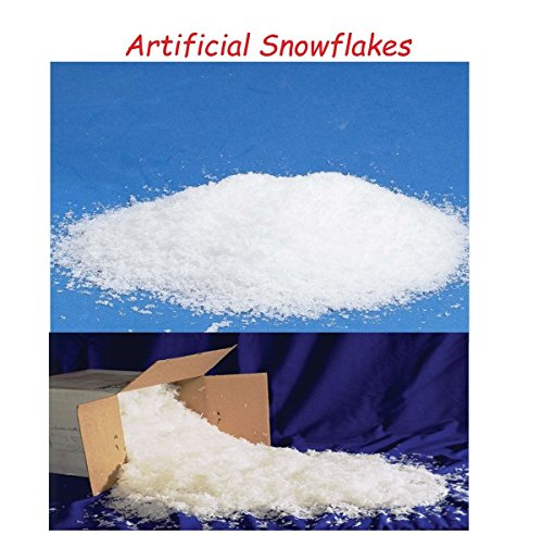 BookishBunny Artificial Snowflakes Fake Snow Christmas Decoration Retail Display Photo Prop Holiday Promotion (2 lb) by Bookishbunny