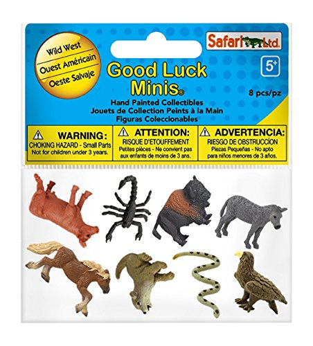 Safari Ltd. Good Luck Minis – Wild West Fun Pack – Realistic Hand Painted Toy Figurine Model – Quality Construction from Phthalate, Lead and BPA free Materials – For Ages 5 and Up (Mini Figure Safari)