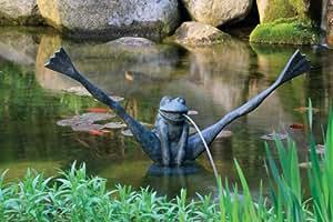 Aquascape Crazy Legs rana Spitter W/Upgraded pump-78010-fountain/Koi estanque/jardín/agua característica