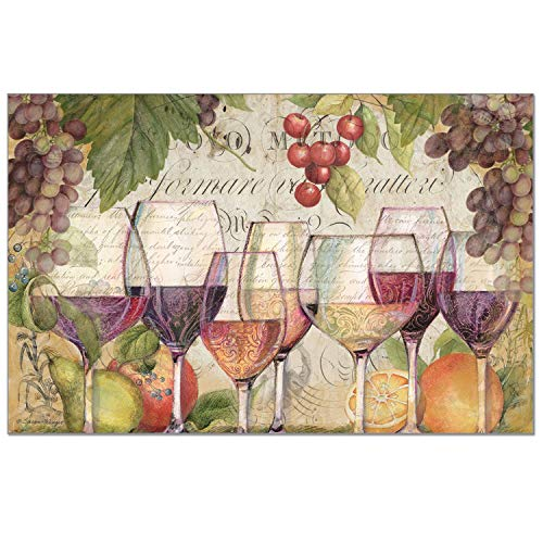 CounterArt Paper Placemat, Wine Country, 24-Pack