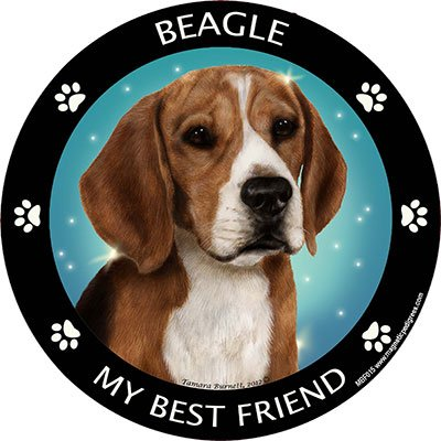 Beagle Best Friend Car, Refrigerator Magnet (Bestfriend Costumes)