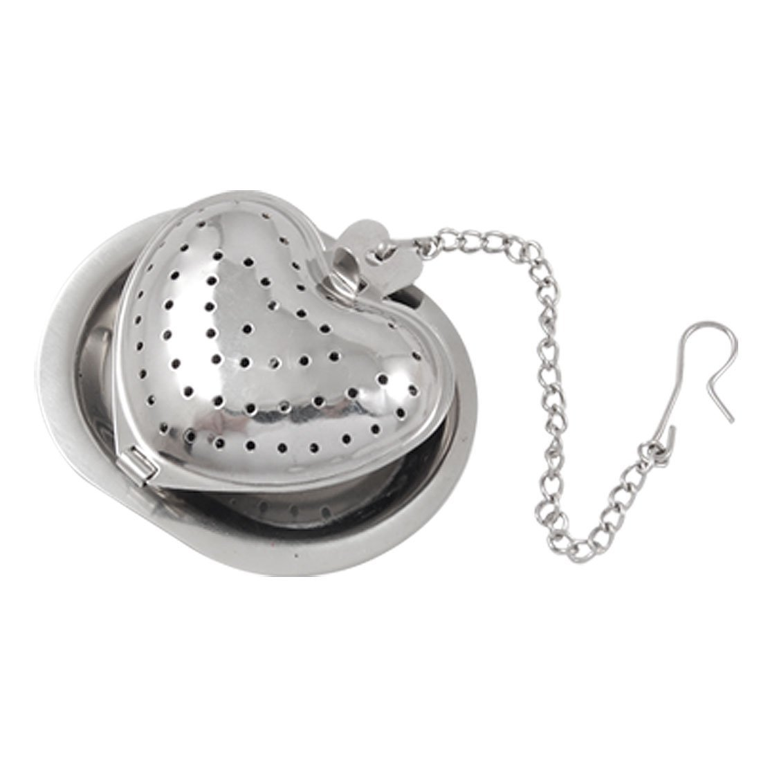 SODIAL(R) Stainless Steel Heart Shaped Tea Infuser Strainer Mesh Ball US-SA-AJD-30114