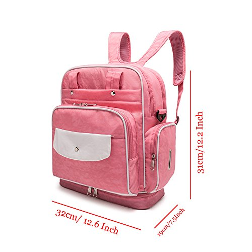 YuHan bebé pañales mochila impermeable Nylon bolsa de pañales bolso de hombro bolso de mano caqui caqui