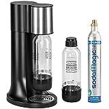 Levivo Wassersprudler Starter-Set inkl. 2 Sprudelflaschen & CO2-Zylinder 60 Liter in Weiß oder Schwarz, Schwarz