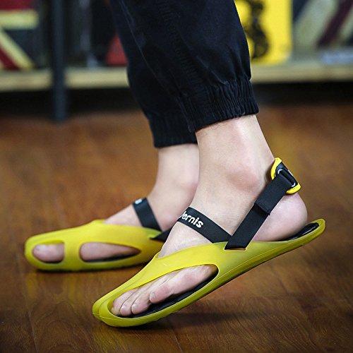 Pattini di spiaggia di sabbia per il tempo libero, scarpe da giuoco traspiranti, giallo, UK = 9, EU = 43 1/3