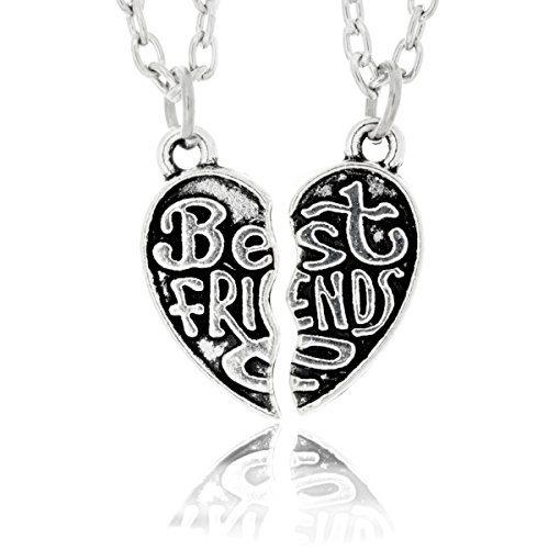 Best Friend Necklaces Silvertone Pendants product image