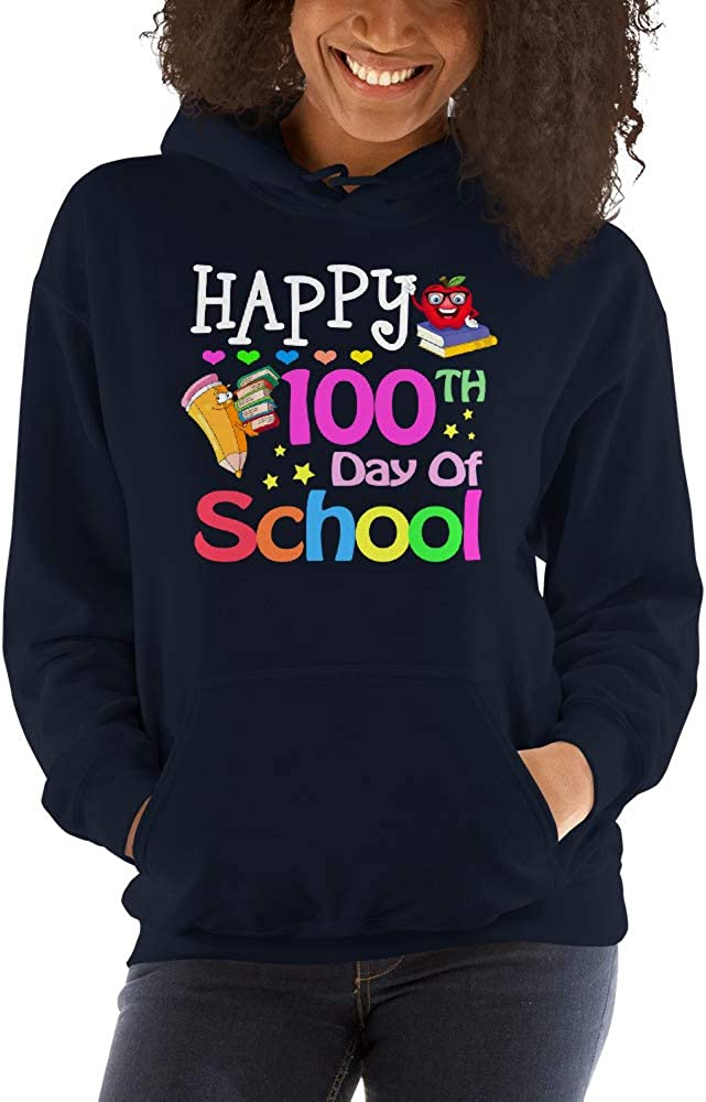TEEPOMY Happy 100th Day of School Kindergarten Teacher Student Unisex Hoodie