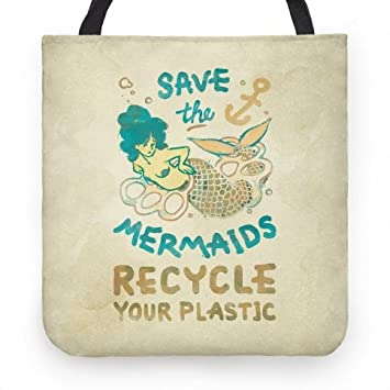 Amazon.com: Save the sirenas su – bolsa de 13 inch de ...