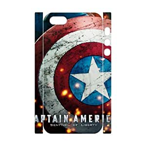 linfenglin Cell phone Protection Cover 3D Case Captain America 2 For Iphone 5,5S