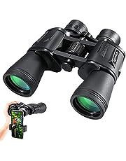 Hochleistungsfernglas, CrazyFire 10 x 50 Wasserdichtes Kompakt Ferngläser mit FMC-Objektiv und Smartphone-Adapter für Outdoor, Reisen, Vogelbeobachtung, Jagd, Abenteuer