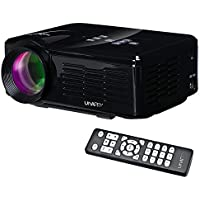 U35 800 Lumens Mini LED Projector HD LCD Projector Home Cinema Theatre Projector with AV/VGA/USB/ATV/HDMI Input for iPhone iPad Android Smartphone