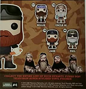 Funko POP! TV - Vinyl Figure - Duck Dynasty - SET OF 4 (Jase, Willie, Si & Phil)