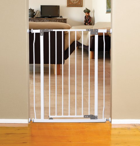 Dreambaby Liberty Extra Tall Auto Close Security Gate W/ Stay Open Feature White