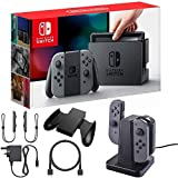 Nintendo Switch and Gray Joystick Controllers with Charging Dock - E1NTHACSKAAAA