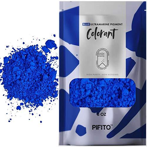 (Pifito Blue Ultramarine Pigment Colorants (8 oz) - Cosmetic Grade Bulk Coloring Powder Kit for Soap Making Supplies, Bath Bombs, Slime)