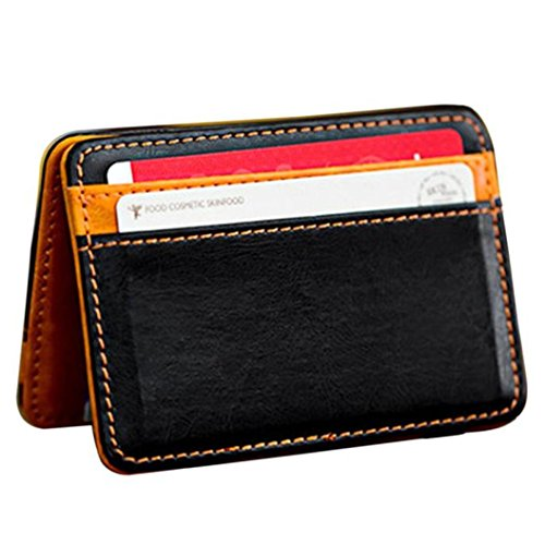 eather Wallet Neutral Magic Bifold Money Clip Card Holder Wallet Purse (Orange) ()
