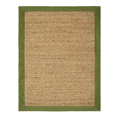Chesapeake Seagrass 5-Foot by 7-Foot Area Rug, Sage (Green Bamboo Rug)