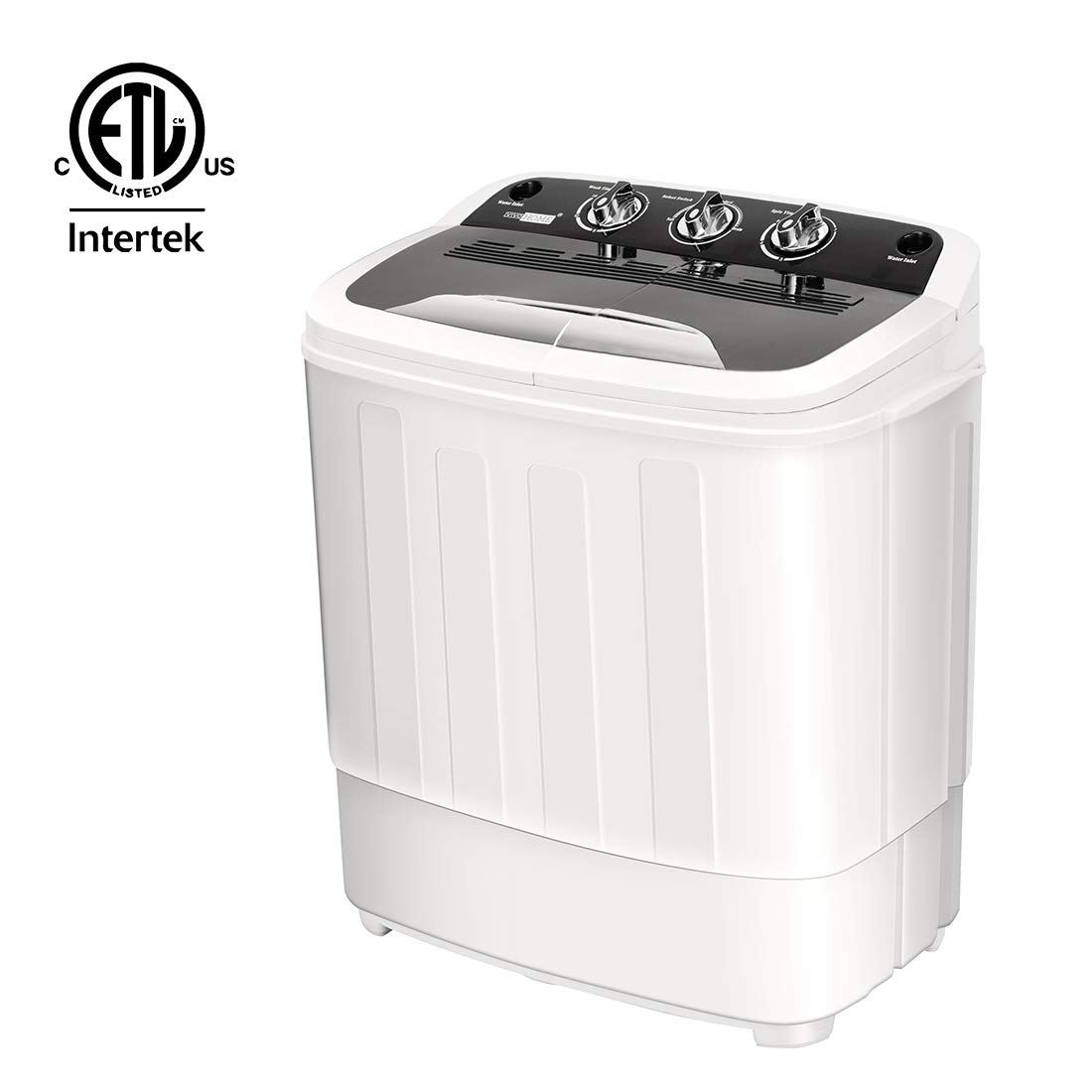 VIVOHOME Electric Portable 2 in 1 Twin Tub Mini Laundry Washer and Dryer Combo Washing Machine with Drain Hose for Apartments 13lbs Capacity ETL Listed