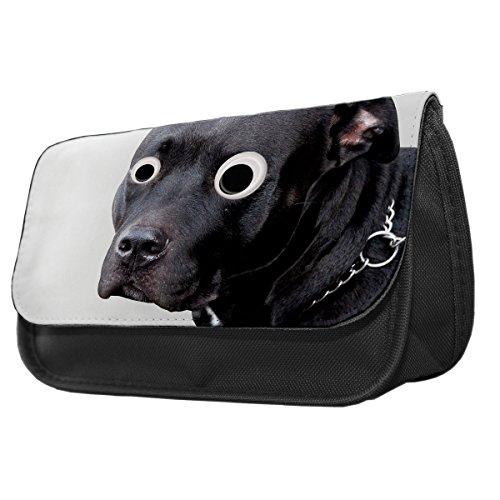 Staffordshire Bull Terrier Googley Augen Tier Bleistift Fall/Make-up Tasche 296