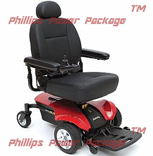Pride Mobility - Jazzy Select Elite - Front-Wheel Drive Power Chair - Jazzy Red - PHILLIPS POWER PACKAGE TM - TO $500 VALUE (Select Power Elite Jazzy Chair)