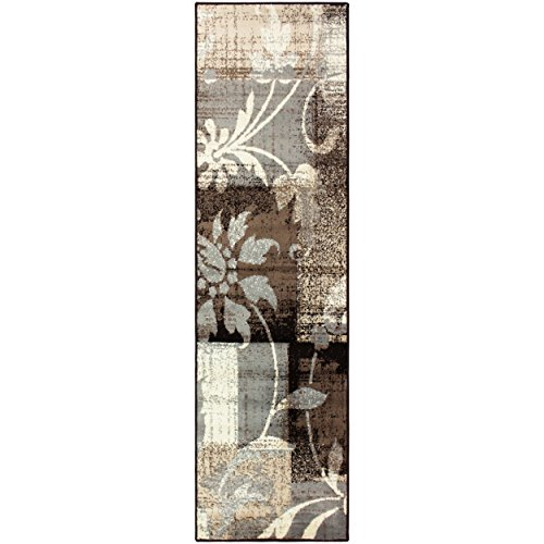 Superior Pastiche Collection Area Rug, 8mm Pile Height with Jute Backing, Chic Geometric Floral Patchwork Design, Fashionable and Affordable Woven Rugs - 2'7