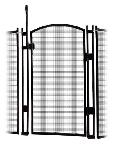 Sentry Safety Pool Fence Visiguard 5' Tall Self-closing/Self latching Pool Fence Child Safety Gate (Black)