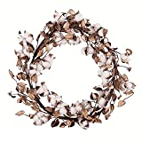 GALLERIE II Cotton Plant Wreath Natural