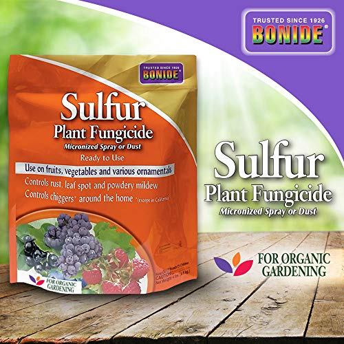Bonide (BND1428) - Sulfur Plant Fungicide, Organically Controls Rust, Leaf Spot and Powdery Mildew (4 lb.)